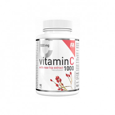 FITNESS AUTHORITY  Vitamin C 1000 with Rose hip Extract - 90tabs.