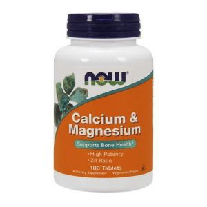 NOW - Calcium and Magnesium - 100tabs