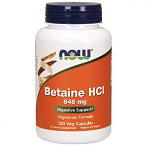 Now Betaine HCL 120 cps.+pepsín 150mg