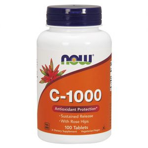 NOW  Vitamin C-1000 with Rose Hips 100tabs.