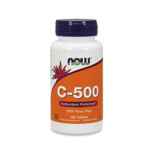 NOW  Vitamin C-500 with Rose Hips - 100tabs.