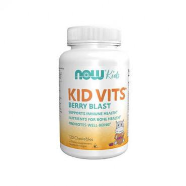 NOW Kid Vits - 120chewables - Berry Blast